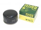 Фильтр масляный Рено Логан MANN-FILTER W 75/3, аналог 7700274177